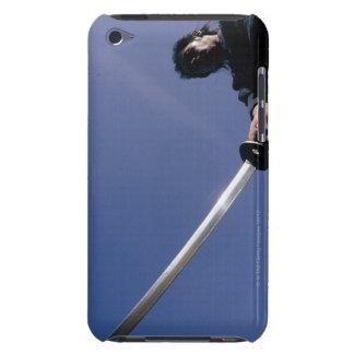 Samuraikrigare slår en ack med ett svärd 3 barely there iPod fodraler