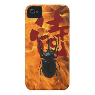 Samuraiskalbagge i avfyra iPhone 4 Case-Mate skal