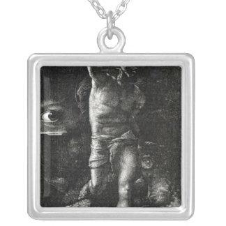 Samvetet eller, ögat som håller ögonen på Cain Silverpläterat Halsband