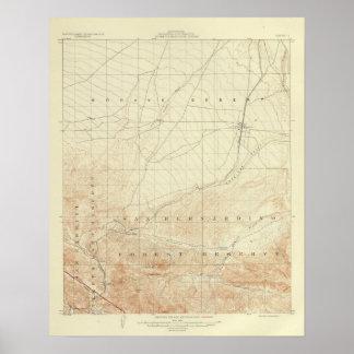 San Andreas för Hesperia quadranglevisning klyfta Poster