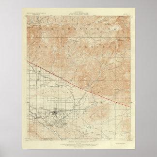San Andreas för Redlands quadranglevisning klyfta Poster