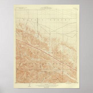 San Andreas för San Antonio quadranglevisning klyf Poster