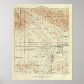 San Andreas för San Bernardino quadranglevisning k Poster