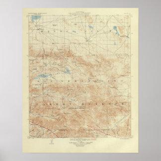 San Andreas för San Gorgonio quadranglevisning kly Poster