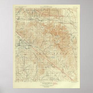 San Andreas för San Jacinto quadranglevisning klyf Poster