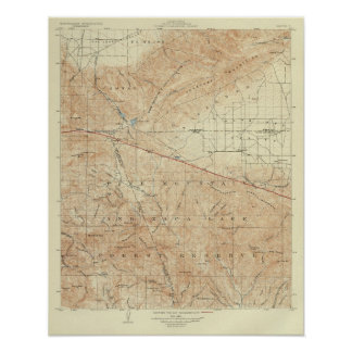 San Andreas för Tejon quadranglevisning klyfta Poster