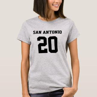 SAN ANTONIO #20 KVINNA T-TRÖJA FÖR HANES T SHIRTS