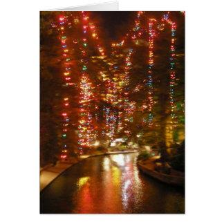 San Antonio Riverwalk i December Hälsningskort