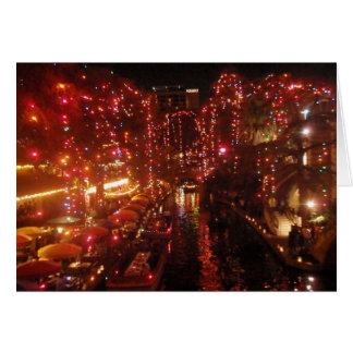 San Antonio Riverwalk ljus Hälsningskort
