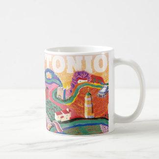 San Antonio Soundscape - en vördnad till Hockney Kaffemugg