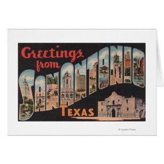 San Antonio Texas - stora brevplatser Hälsningskort