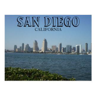 San Diego - beskåda av centra från den Coronado ön Vykort