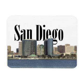 San Diego CA horisont med San Diego i himmlen Magnet