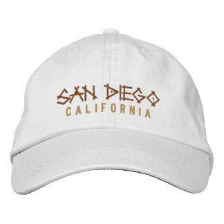 San Diego Kalifornien broderad hatt