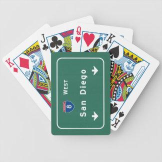 San Diego Kalifornien Interstate huvudvägmotorväg: Spelkort