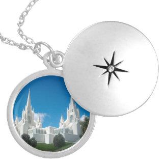 San Diego Kalifornien LDS tempelLocket Halsband Med Rund Berlock