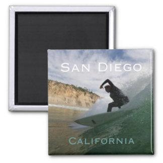 San Diego Kalifornien som surfar kylmagneter Magnet