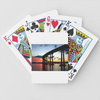 San Diego överbryggar solnedgång Spelkort