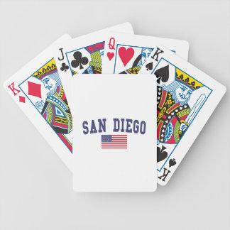 San Diego US flagga Spelkort