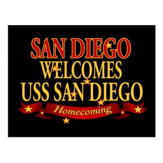 San Diego välkomnar USS San Diego Vykort