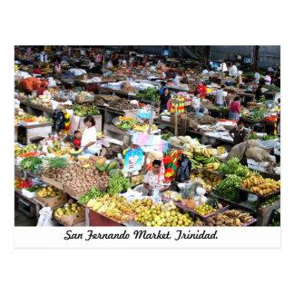 San Fernando marknadsför, den Trinidad vykortet Vykort