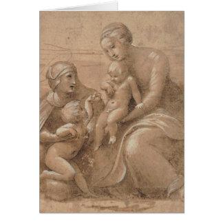 San för Madonna colbambino giovannino e Sant Hälsningskort