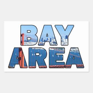 San Francisco Bay område Rektangulärt Klistermärke