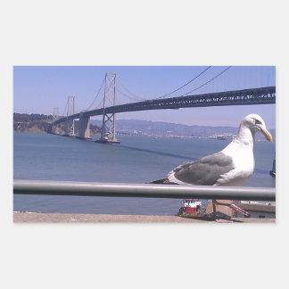 San Francisco Bay överbryggar Rektangulärt Klistermärke