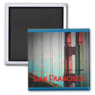 San Francisco (blått) magnet