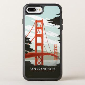 San Francisco CA - den guld- grinden överbryggar OtterBox Symmetry iPhone 7 Plus Skal
