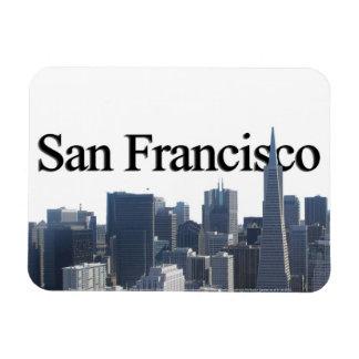San Francisco CA horisont med San Fran i himmlen Magnet