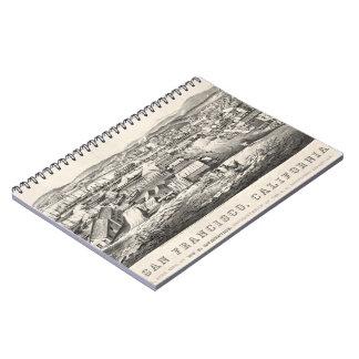 San Francisco från telegraferar backen 1850 Anteckningsbok Med Spiral