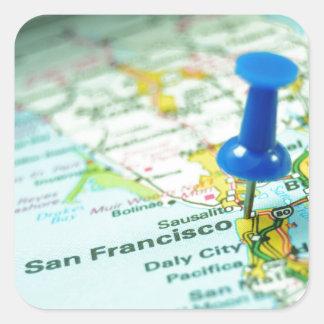 San Francisco Fyrkantigt Klistermärke