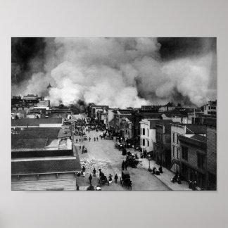 San Francisco jordskalvefterdyning - 1906 Poster