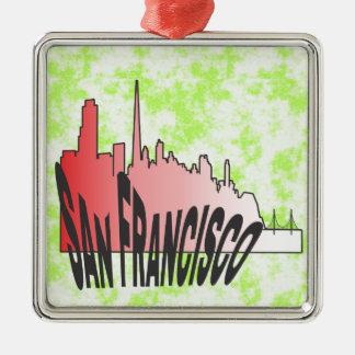 San Francisco Julgransprydnad Metall