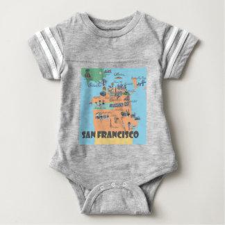 San Francisco Kalifornien karta T-shirts