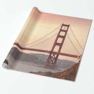San Francisco Kalifornien överbryggar den guld- Presentpapper