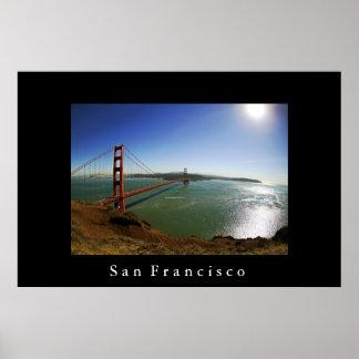 San Francisco överbryggar den guld- grinden Poster