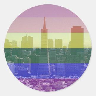 San Francisco pride Runt Klistermärke