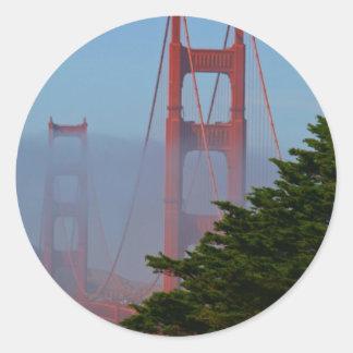 San Francisco solig dag Runt Klistermärke