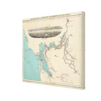 San Francisco till Sacramento Canvastryck