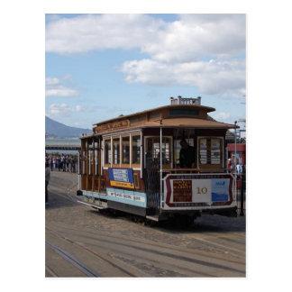 San Francisco Trolleybilar Vykort