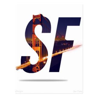 San Francisco typografi Vykort