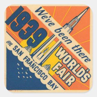 San Francisco världs klistermärke för mässa