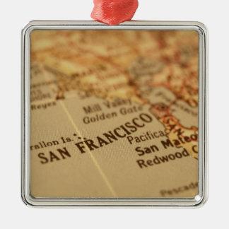 SAN FRANCISCO VINTAGEKARTA JULGRANSPRYDNAD METALL