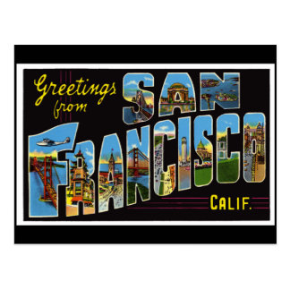 San Francisco vintagekort Vykort