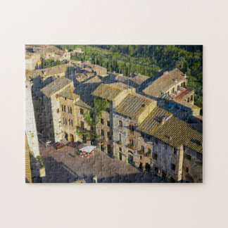 San Gimignano gammal Town, Siena, Tuscany, italien Pussel