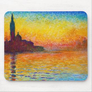 San Giorgio Maggiore på skymningen Claude Monet Musmattor