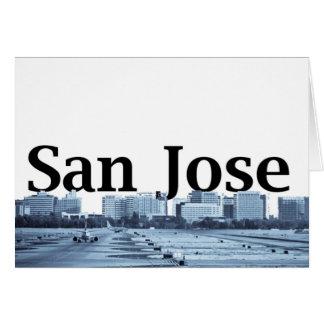 San Jose horisont med San Jose i himmlen Hälsningskort