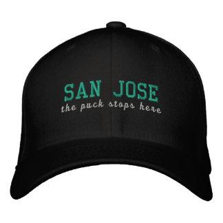 San Jose pucken stoppar här Broderad Keps